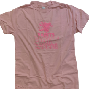 Saints Fight Cancer Breast Cancer Awareness T-Shirt