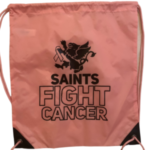 Saints Fight Cancer Pink Breast Cancer Bag