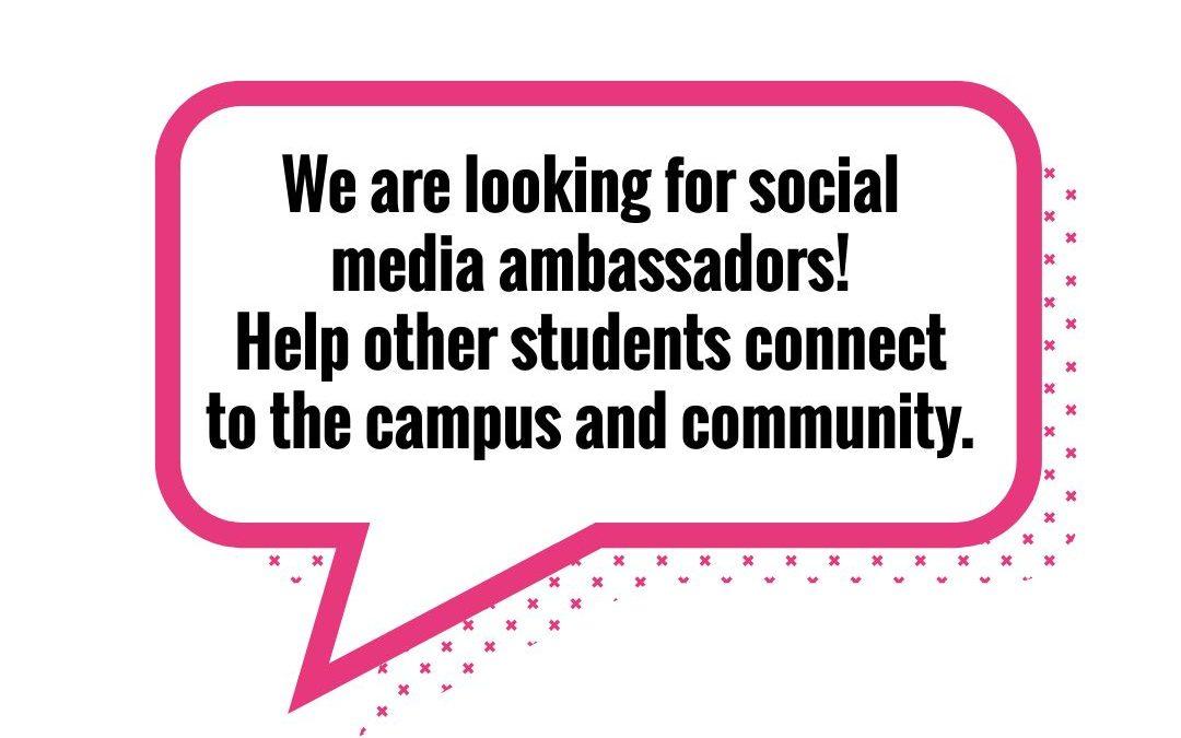 We're Hiring Social Media Ambassadors