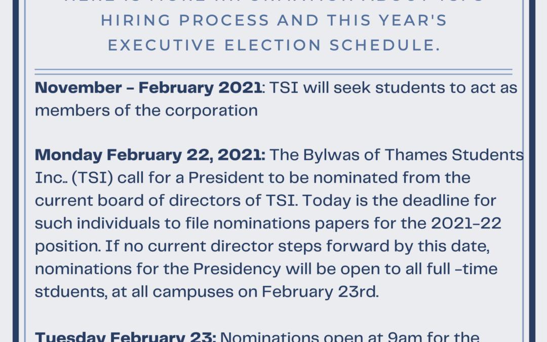 TSI Executive Elections