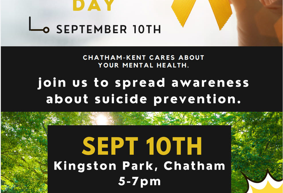 World Suicide Prevent Day – September 10th